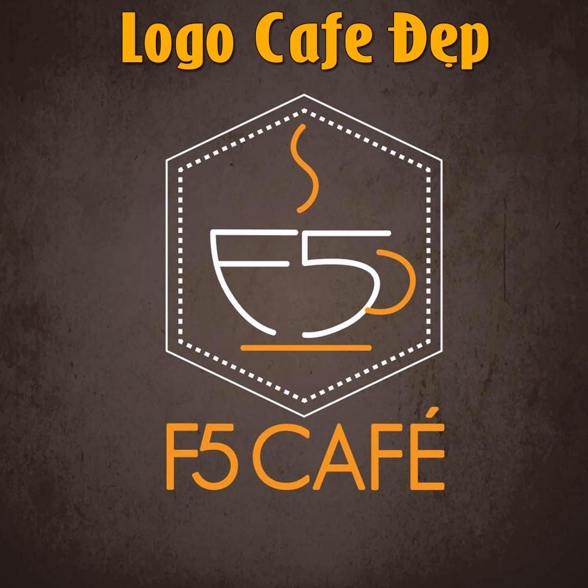 F5cafe - Logo cafe đẹp khởi đầu tươi sáng