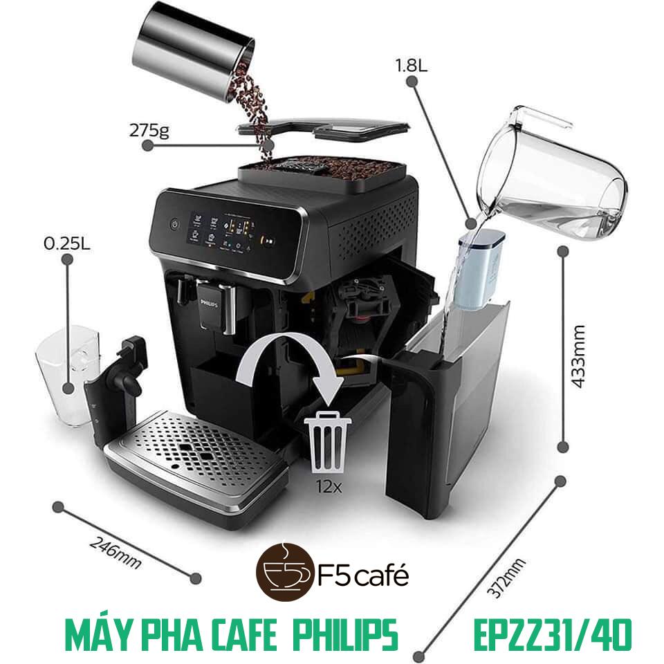 Máy pha cafe gia đình tự động Philips EP2231/40