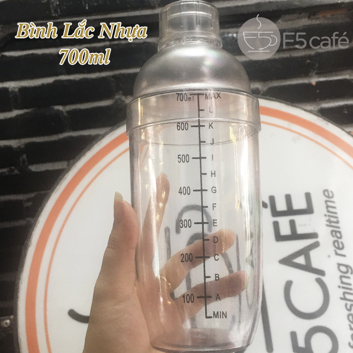 Bình lắc pha chế nhựa 700ml trà sữa